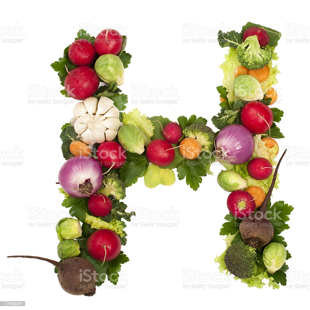 Healthy alphabet Letter H royalty-free stock photo