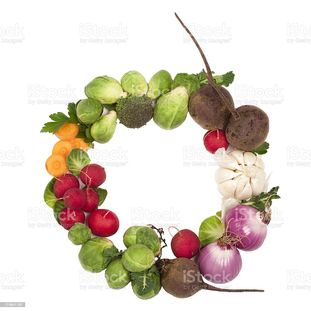 Healthy alphabet Letter O royalty-free stock photo