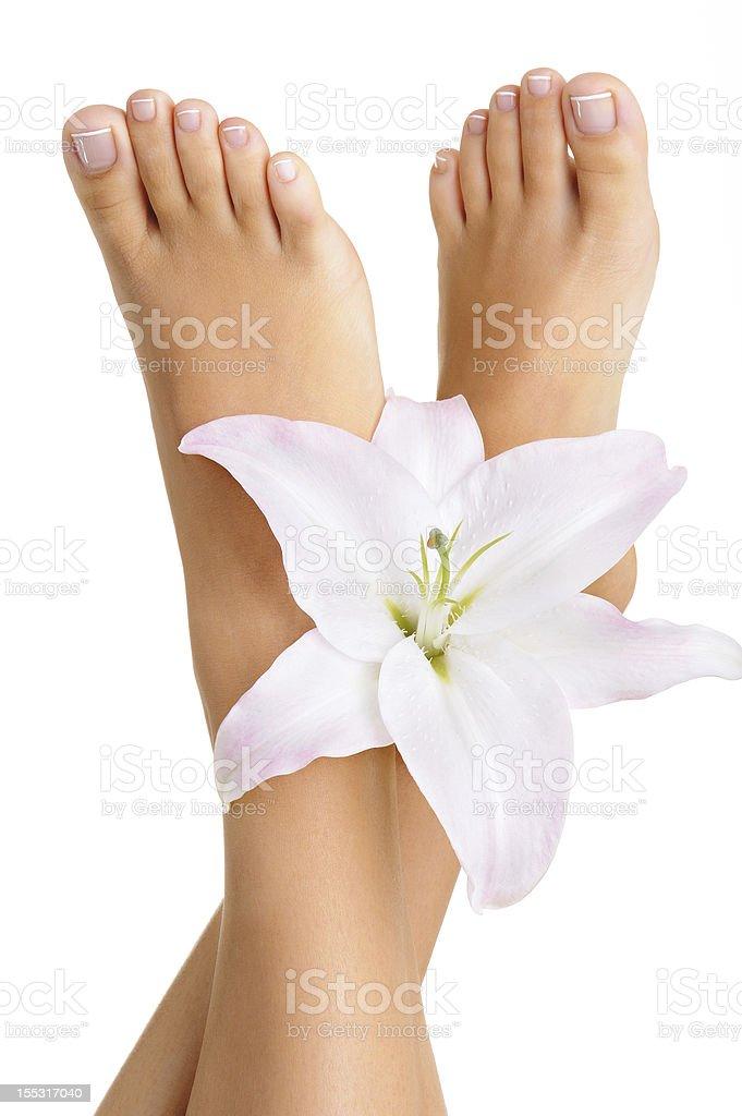 Healthy and elegant female feet stock photo