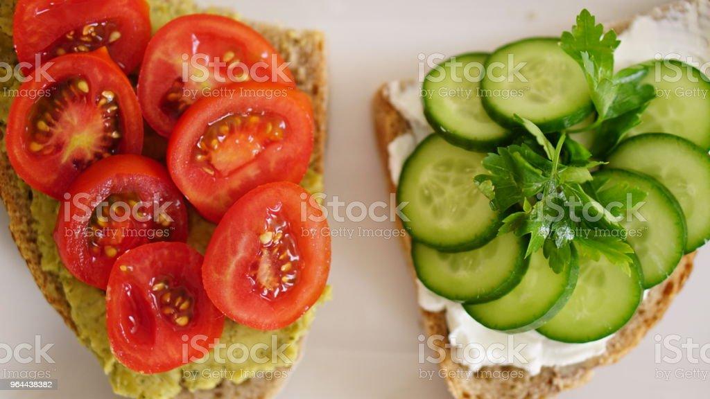 gezonde en verse toast - Royalty-free Afvallen Stockfoto