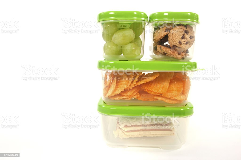 A healthy and nutritious lunch packaged together neatly stock photo