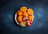 Antioxidant, Abundance, Detox, Orange, Pomegranate, Lemon, Photography art