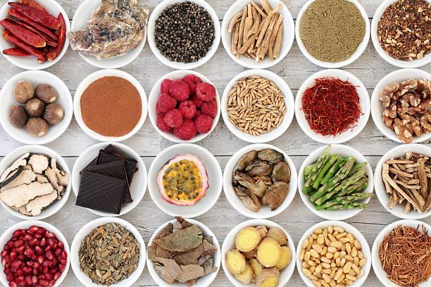 healthy aphrodisiac food - caernarfon and merionethshire stockfoto's en -beelden