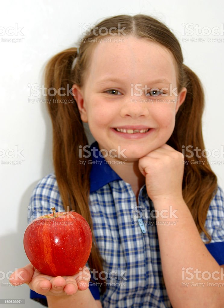 Healthy Apple Play Lunch stock photo