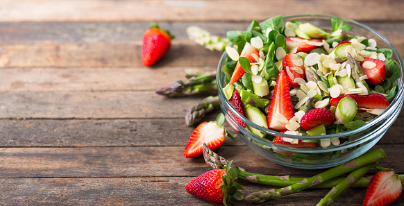 istock Healthy asparagus salad with strawberries 1142644042