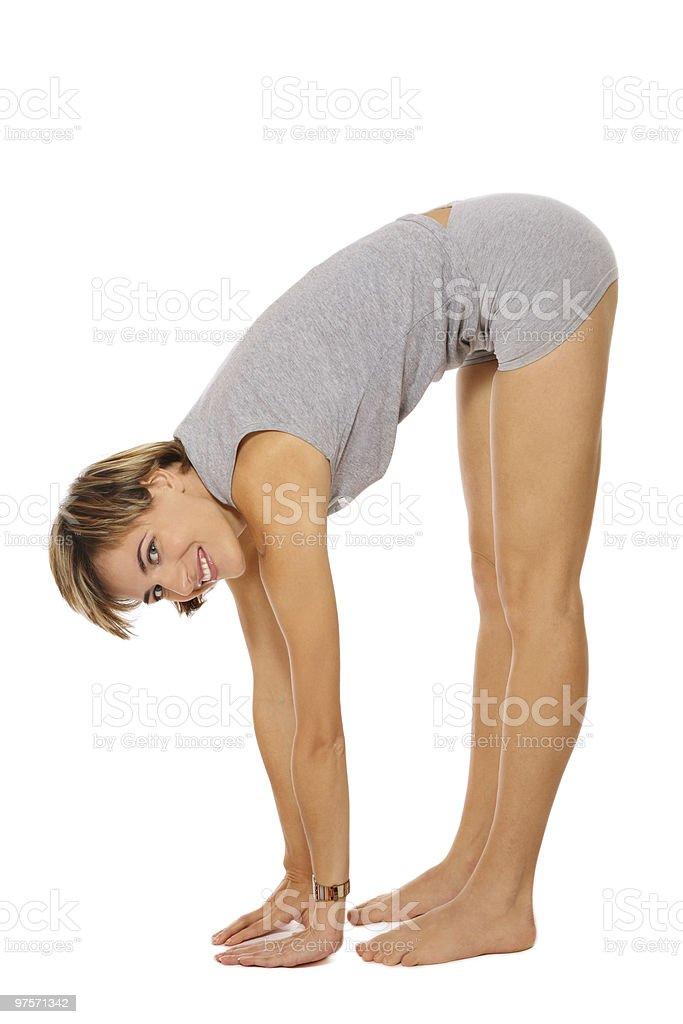 Healthy back royalty-free stock photo