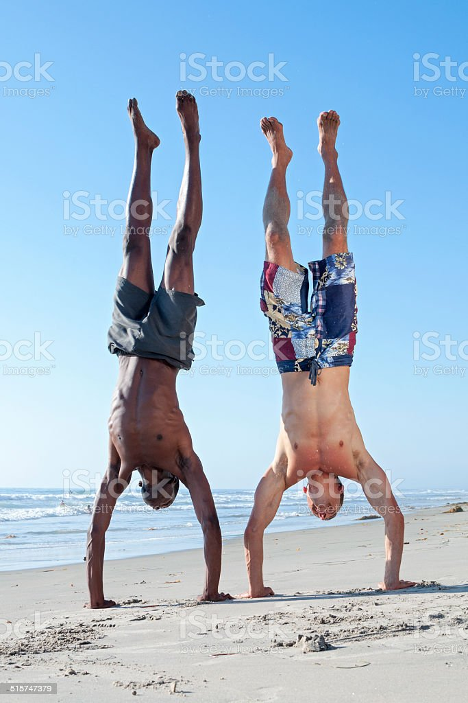 Healthy beach lifestyle stock photo