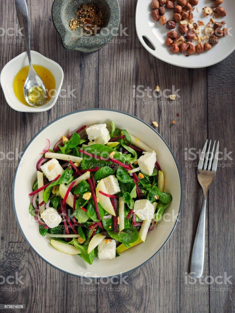 Healthy bistro salad royalty-free stock photo