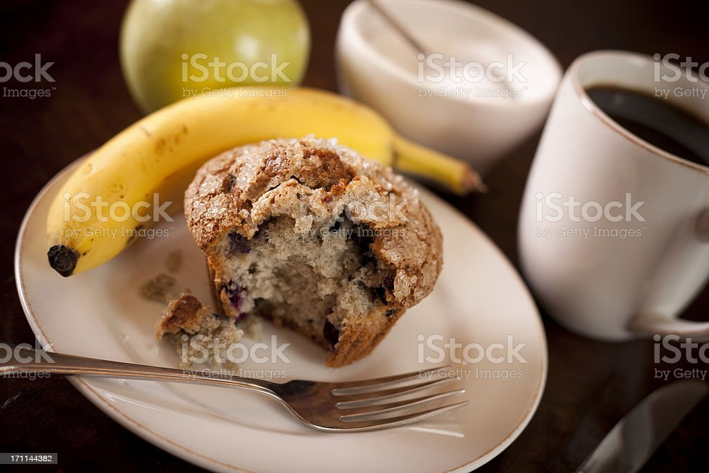 Healthy Blueberry Muffin Breakfast royalty-free stock photo
