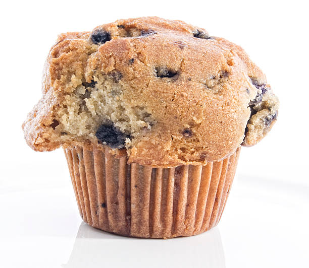 Healthy Blueberry Whole Grain Muffin stock photo