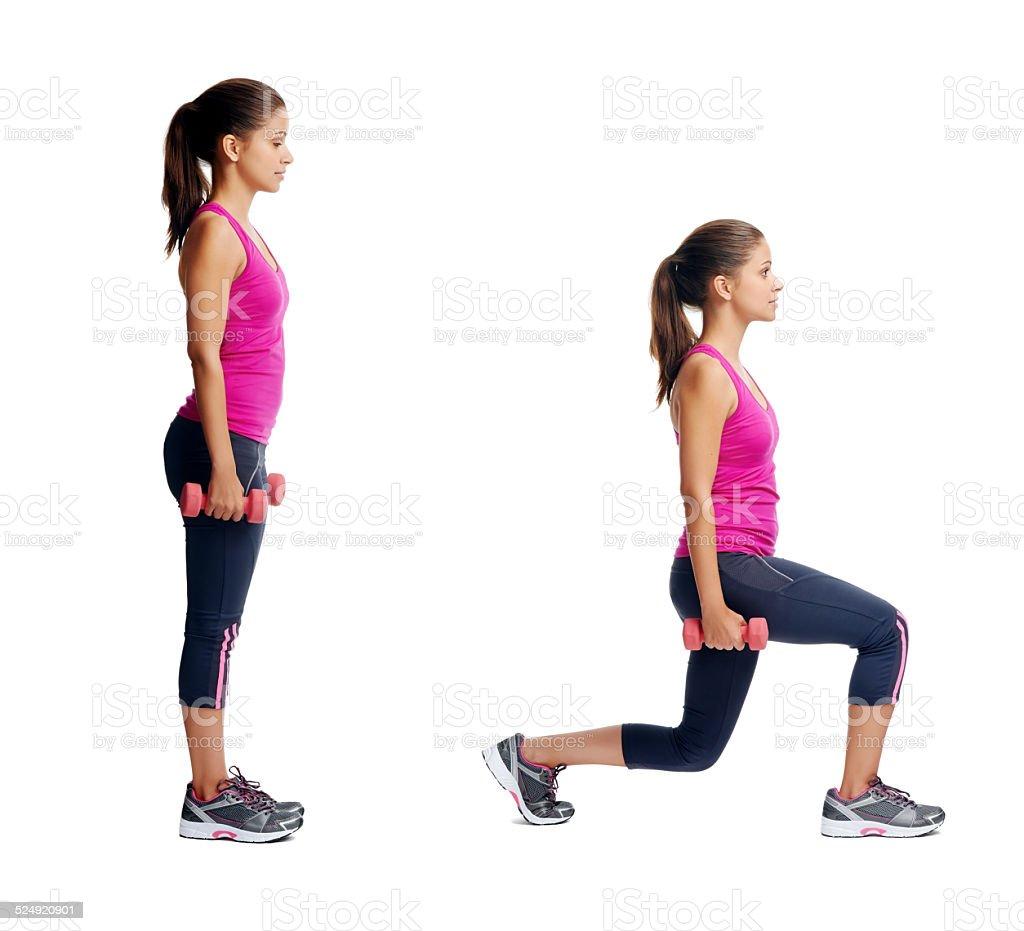 healthy body woman set stock photo