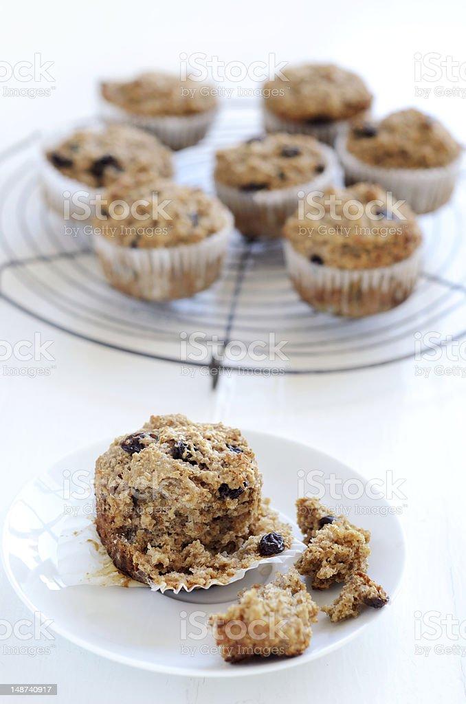 Healthy bran muffin stock photo