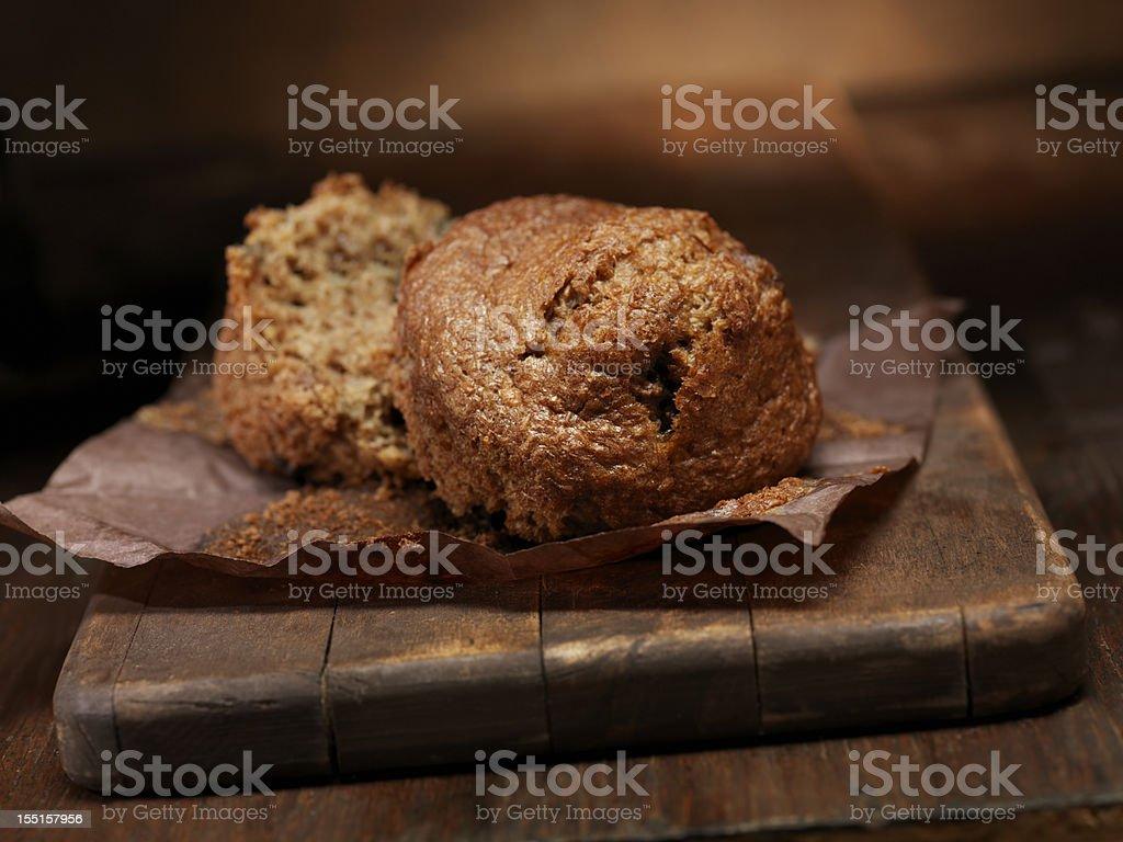 Healthy Bran Muffins stock photo
