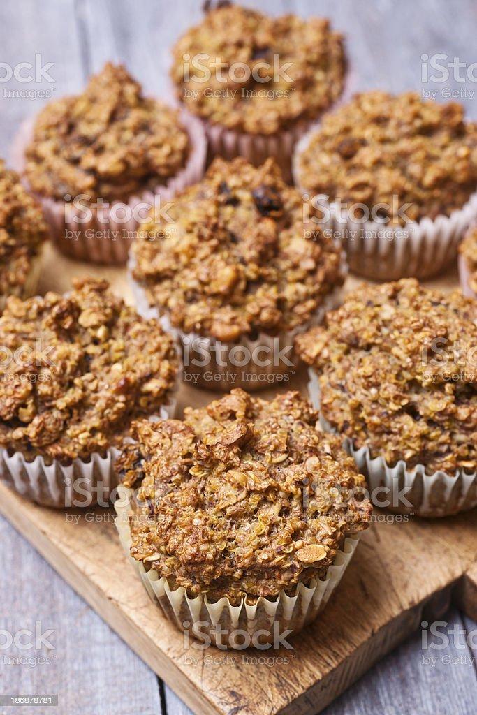 Healthy Bran Quinoa Muffins stock photo