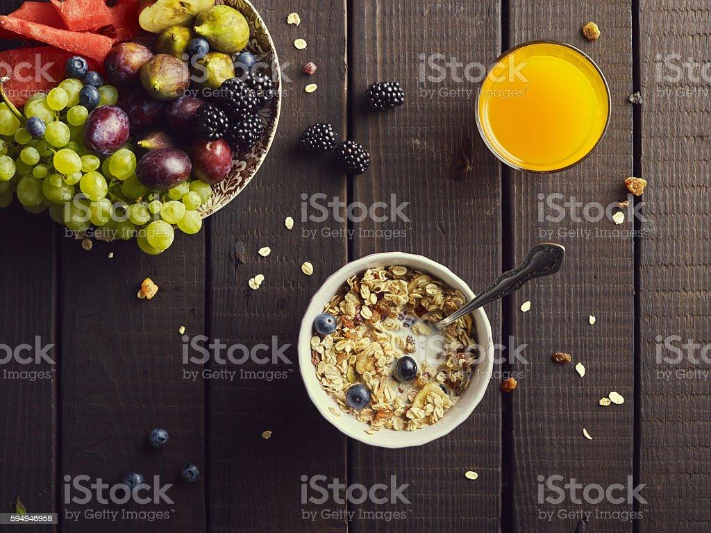 Healthy breakfast concept.