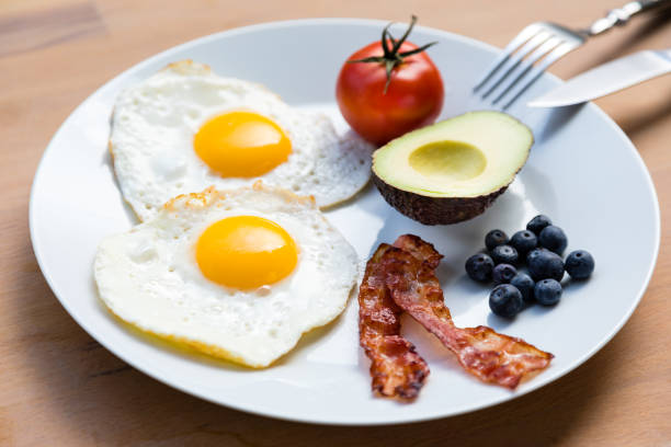 Healthy Breakfast for Weight Loss and Vitality stock photo