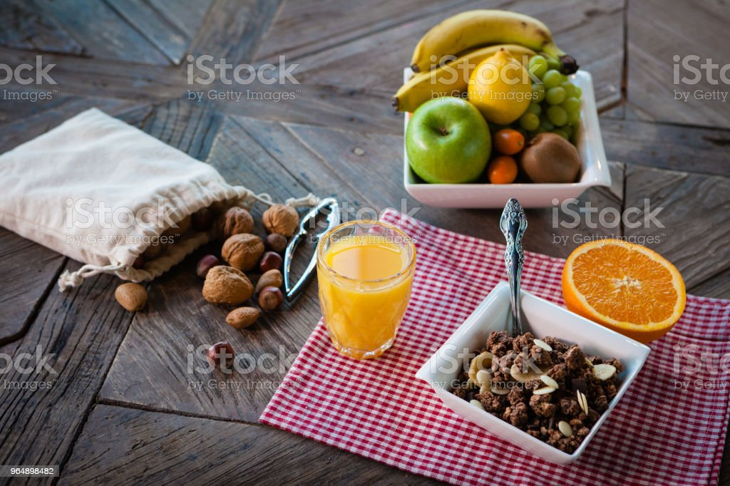 Healthy breakfast on the table royalty-free stock photo