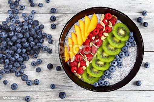 istock healthy breakfast - tasty chia seeds pudding 850946814