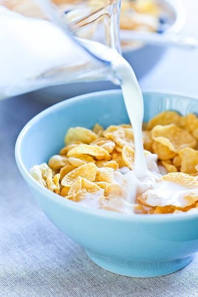 Gesundes Frühstück mit Cornflakes – Foto