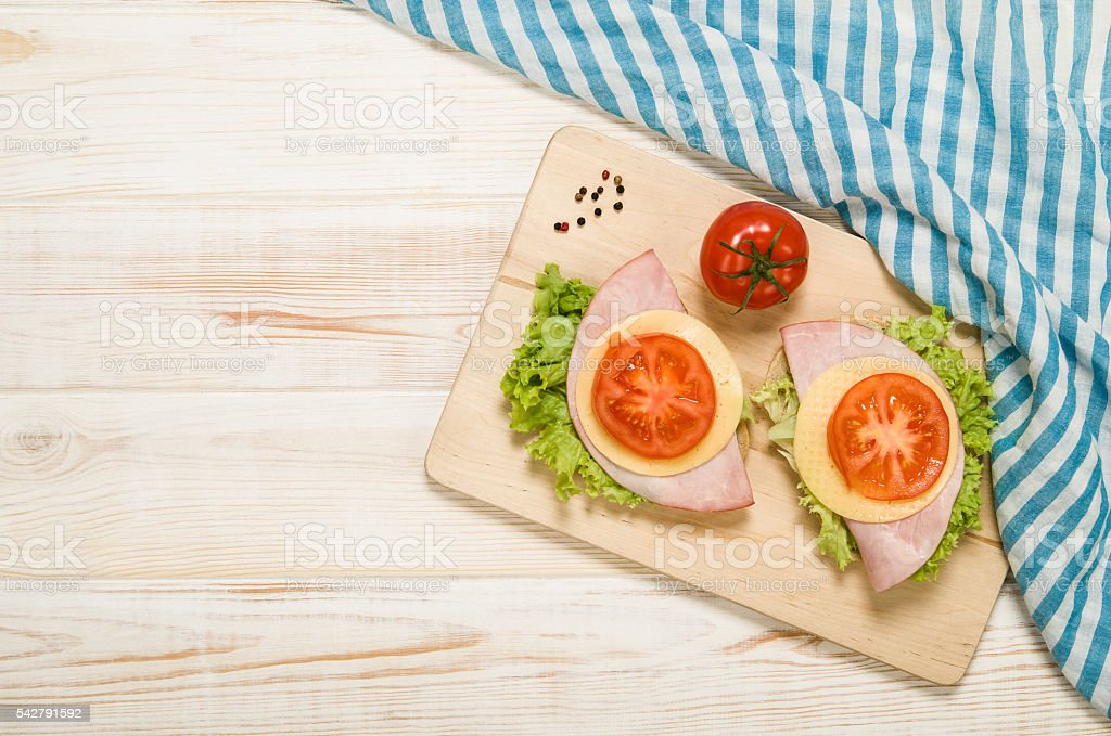 Healthy breakfast with hard boiled egg stock photo