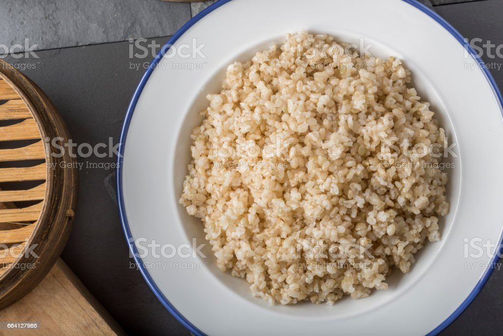 Healthy Brown Rice foto stock royalty-free