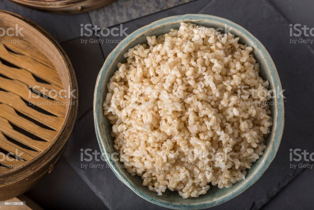 Healthy Brown Rice stock photo