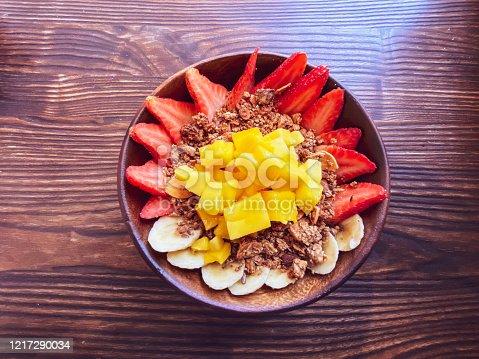 Organic, Fruits, Breakfast - Fresh Brazilian Acai Bowl