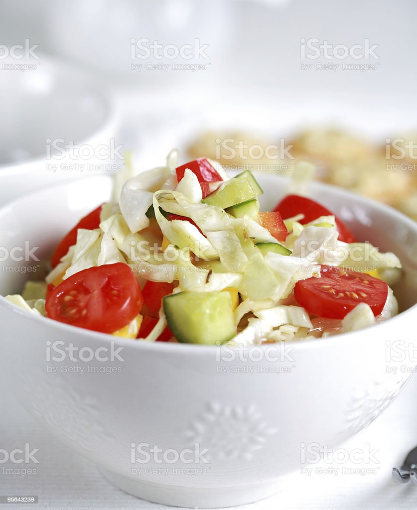Healthy cabbage salat - fatburner stock photo