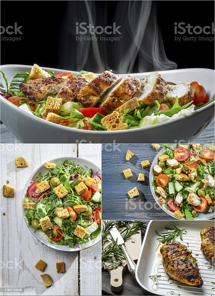 Healthy Caesar salad royalty-free stock photo