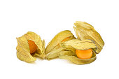 Healthy Cape Gooseberry (Physalis) isolated on white background