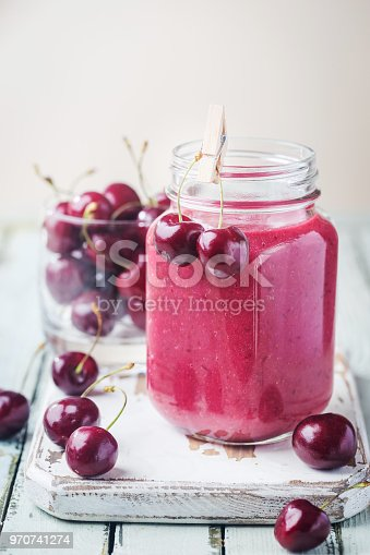 1081369140 istock photo Healthy cherry smoothie 970741274