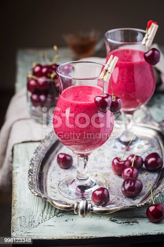 1081369140 istock photo Healthy cherry smoothie 996123348
