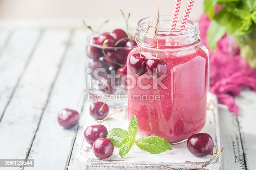 1081369140 istock photo Healthy cherry smoothie 996123544