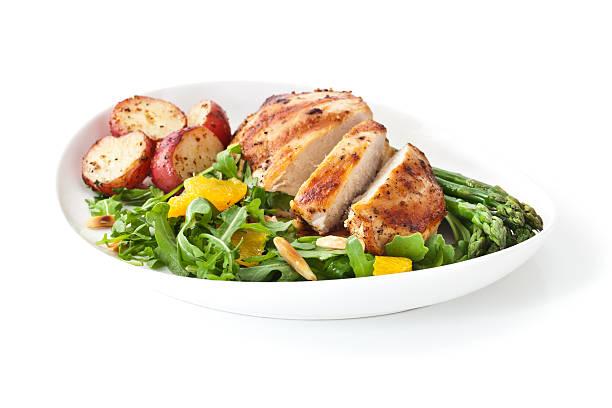 jantar frango saudável - meat plate imagens e fotografias de stock