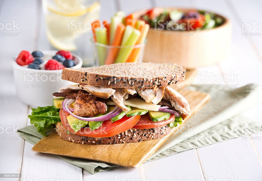 Healthy Chicken Salad stock photo