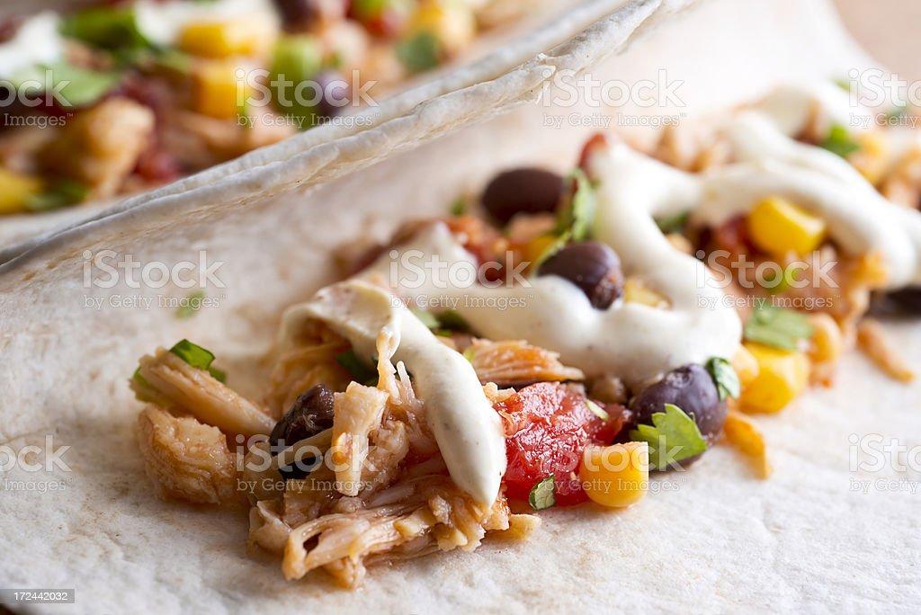 Healthy Chicken Taco stock photo