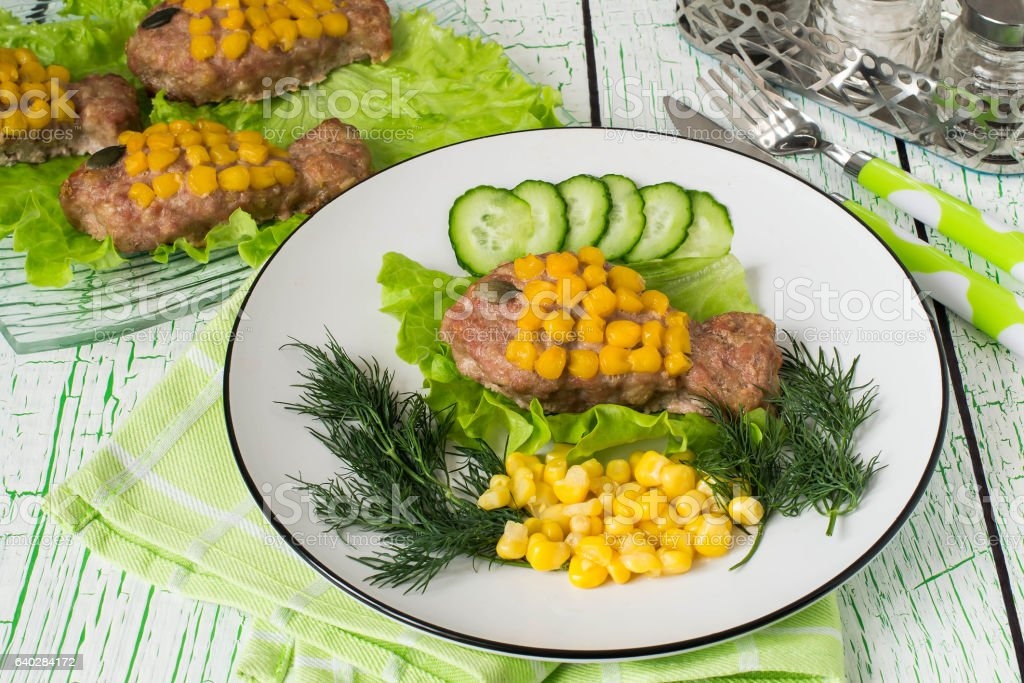 Healthy Child Food Rissole With Corn As A Goldfish Stock