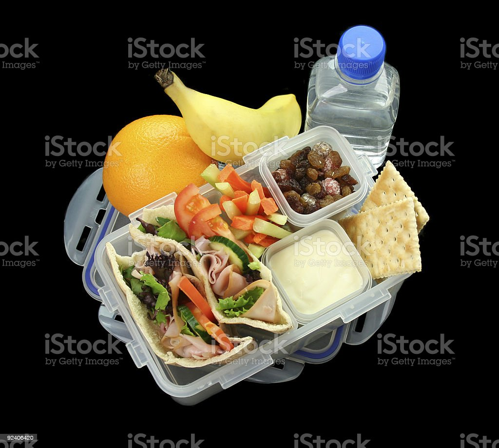 Healthy Children's Lunch Box royalty-free stock photo