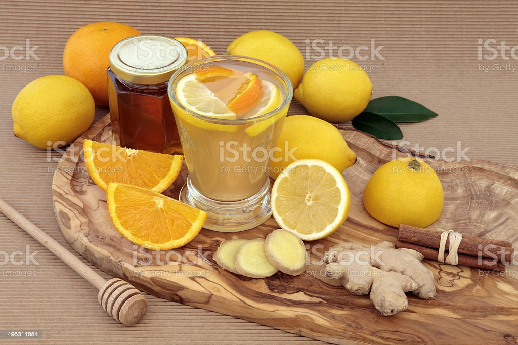 Healthy Cold Cure Drink stock photo