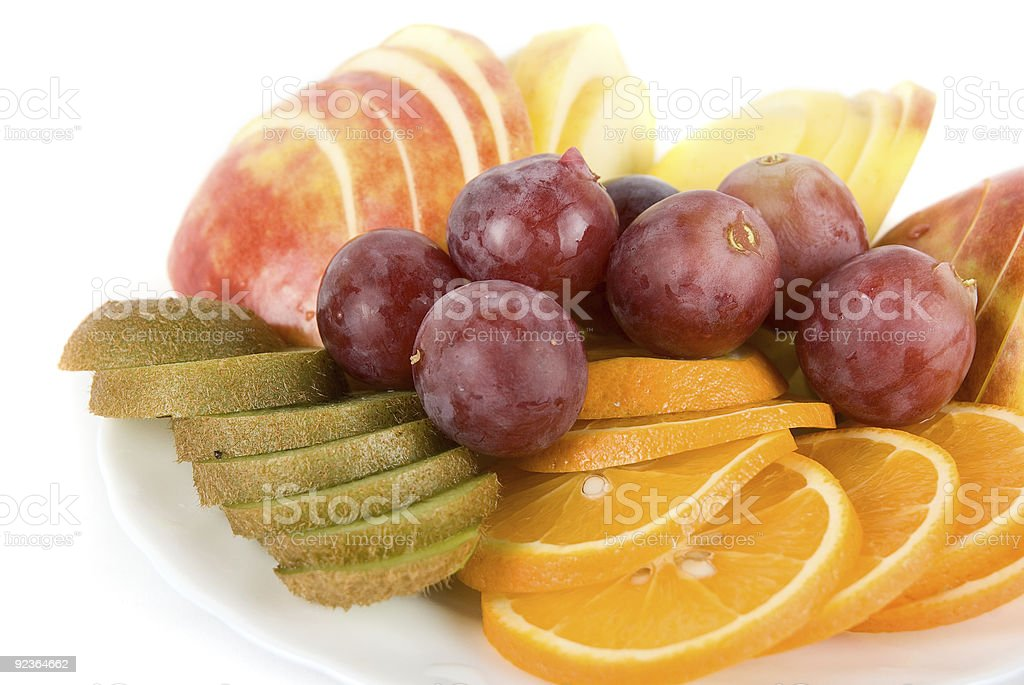 Healthy combination of fresh fruits royalty-free stock photo