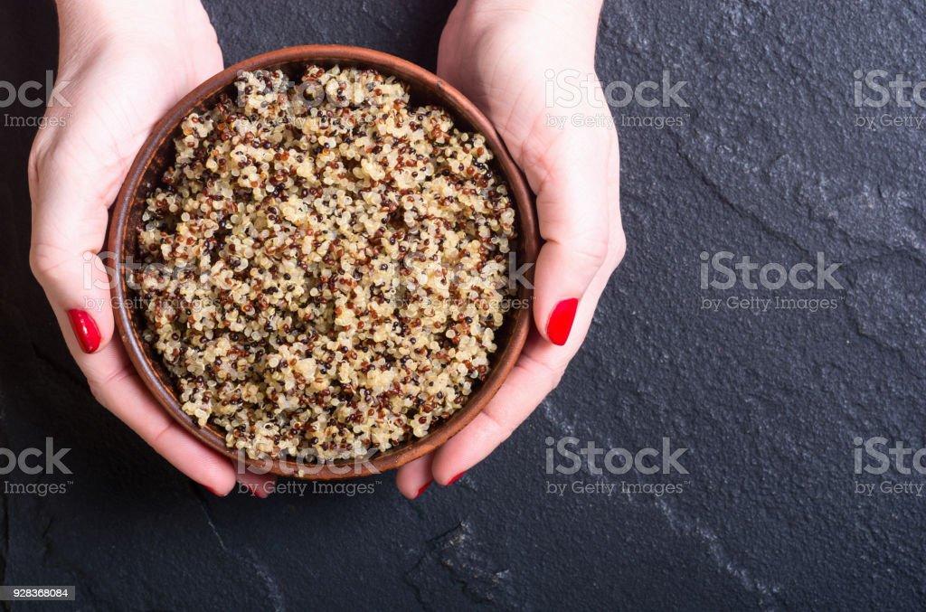 Healthy cooked quinoa stock photo