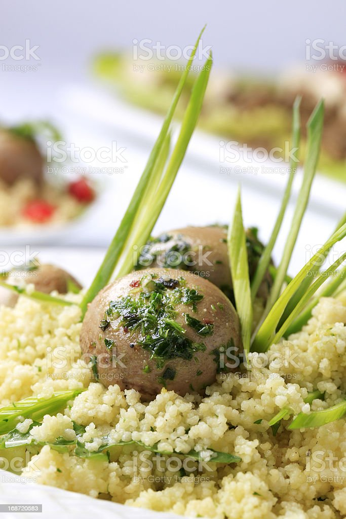 Healthy couscous dish royalty-free stock photo