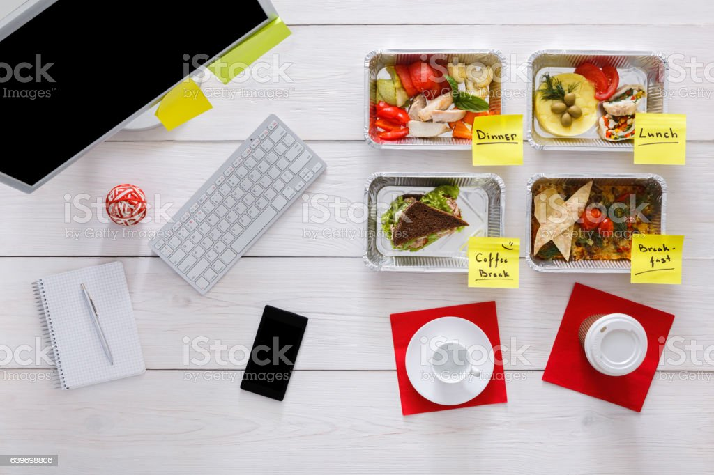 Healthy restaurant food delivery, business lunch and diet plan, fresh...