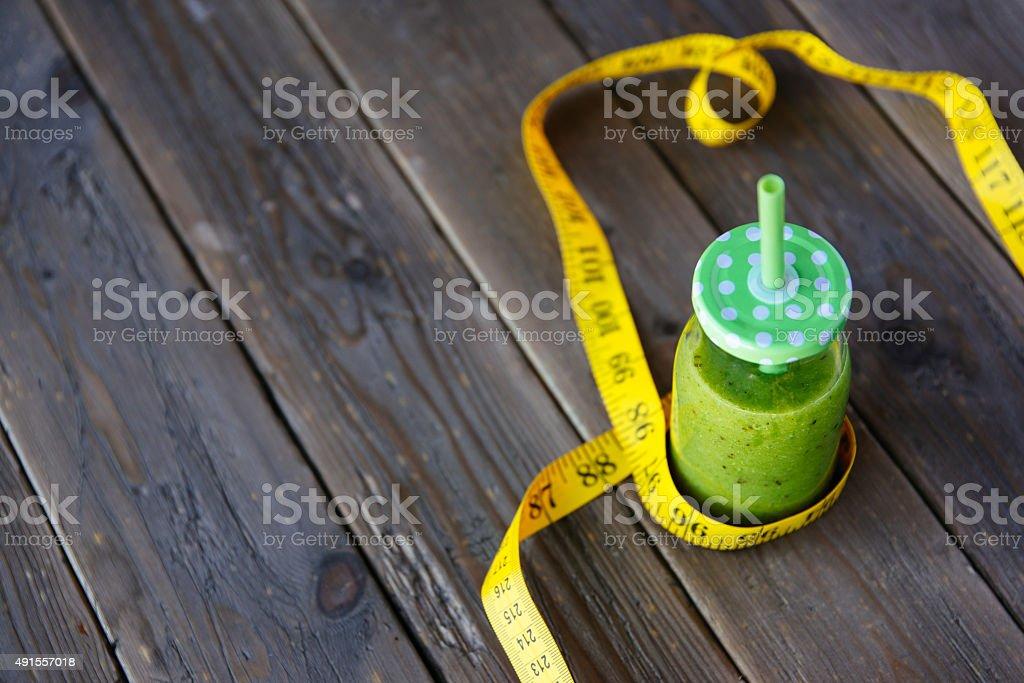 Gesunden Entschlackung grünen smoothie für Gewicht Verlust-Diät – Foto