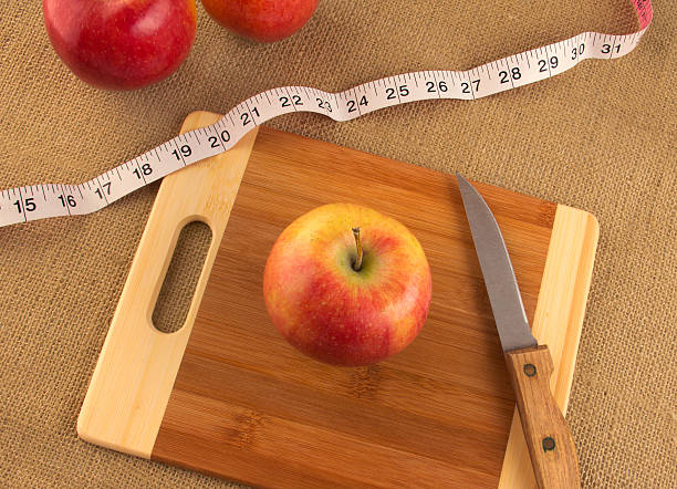 Healthy diet and nutrition - concept for weight loss stock photo