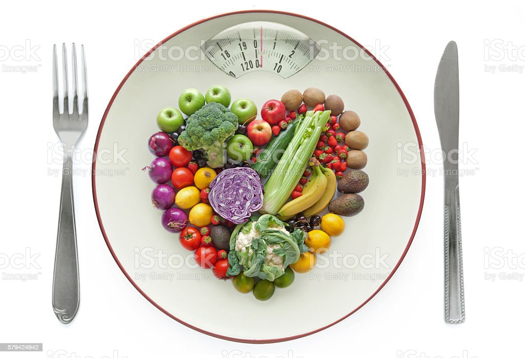 Healthy diet concept stock photo