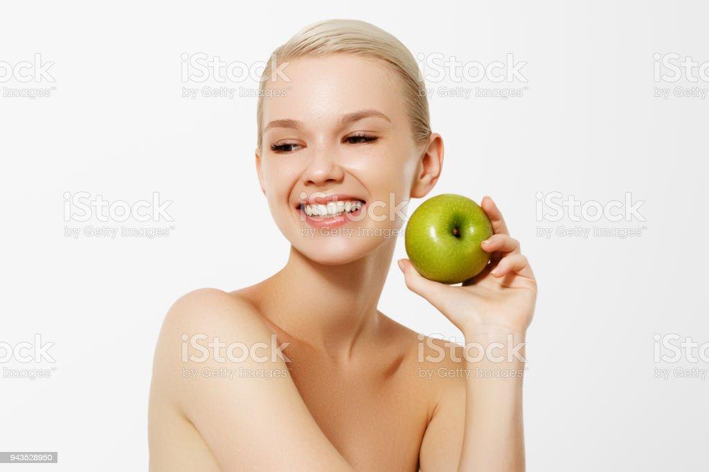 Healthy Diet Food Closeup Portrait Of Beautiful Happy