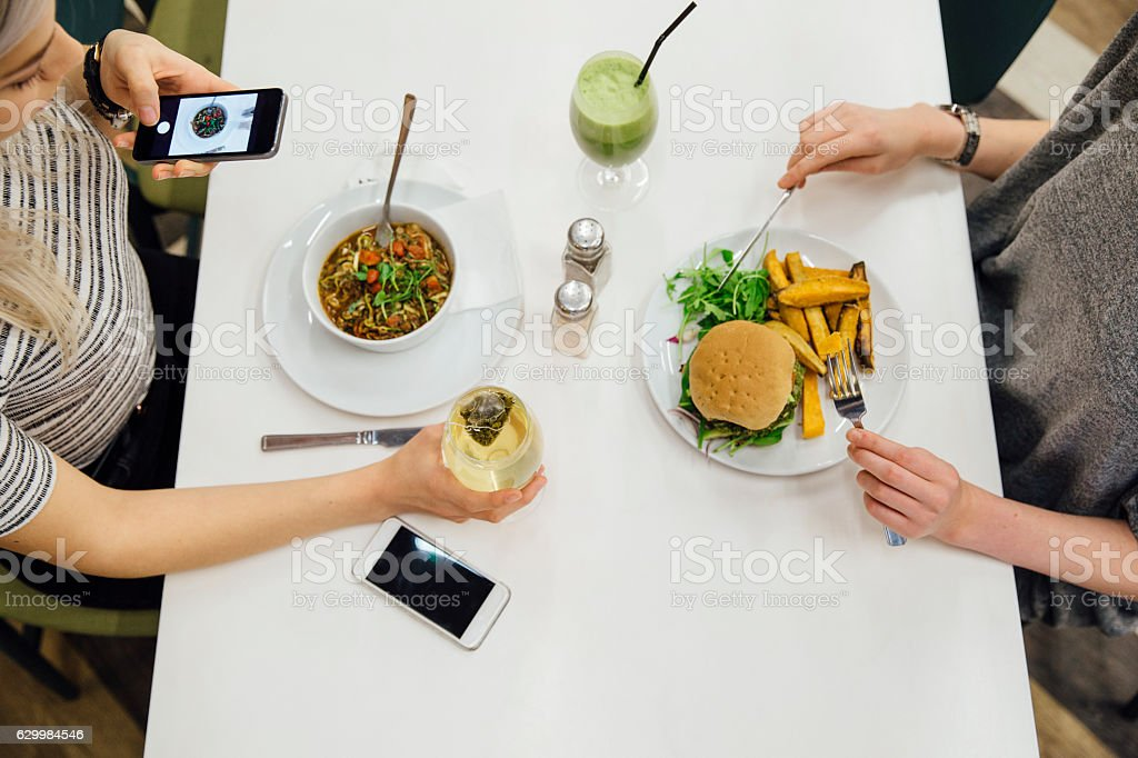 Healthy Dinner Date stock photo