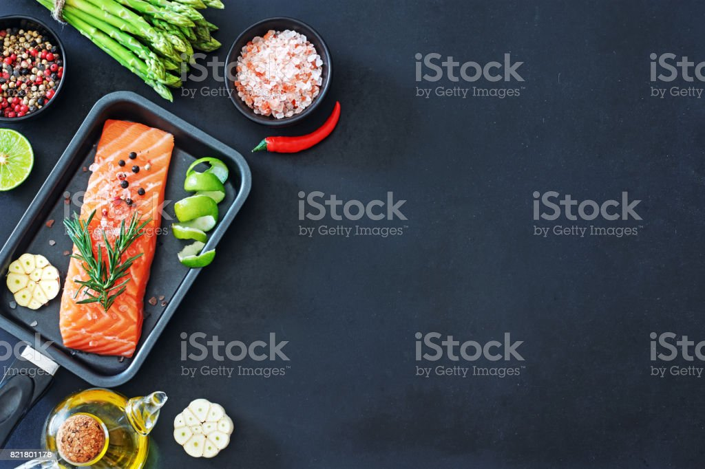 Gesundes Abendessen Zutaten. – Foto