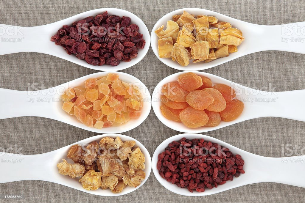 Healthy Dried Fruit royalty-free stock photo